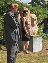 Inauguration of the stone sculpture A moment of silence